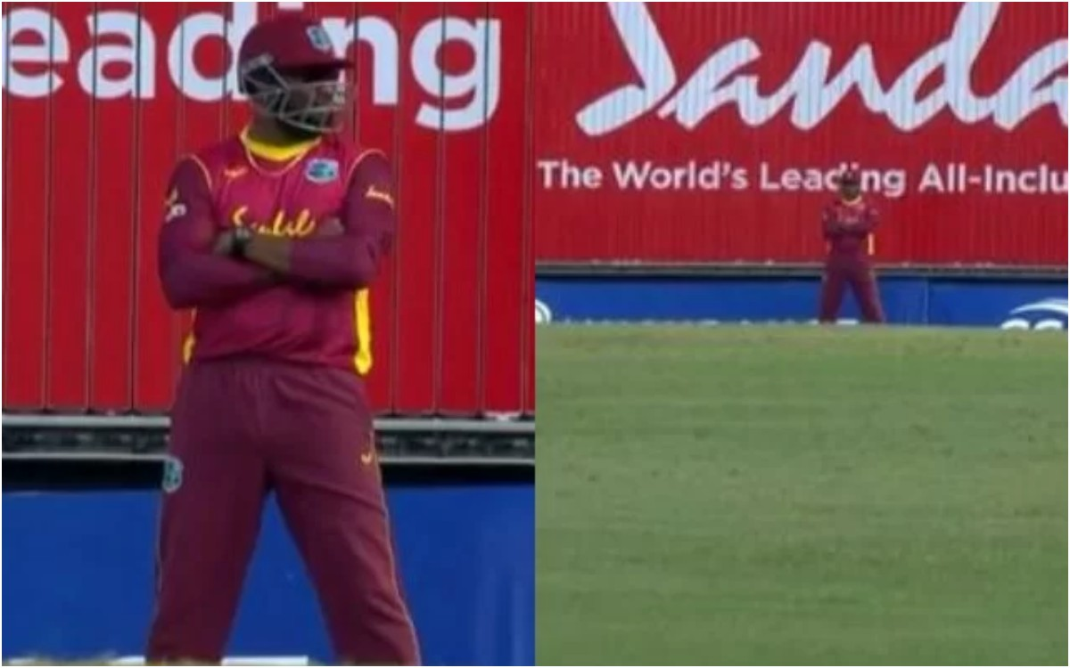 Cricket Image for WI vs AUS : फ्री-हिट पर 10 फील्डर दिखे मैदान पर, पोलार्ड ने अपनी हरकत से किया सभी