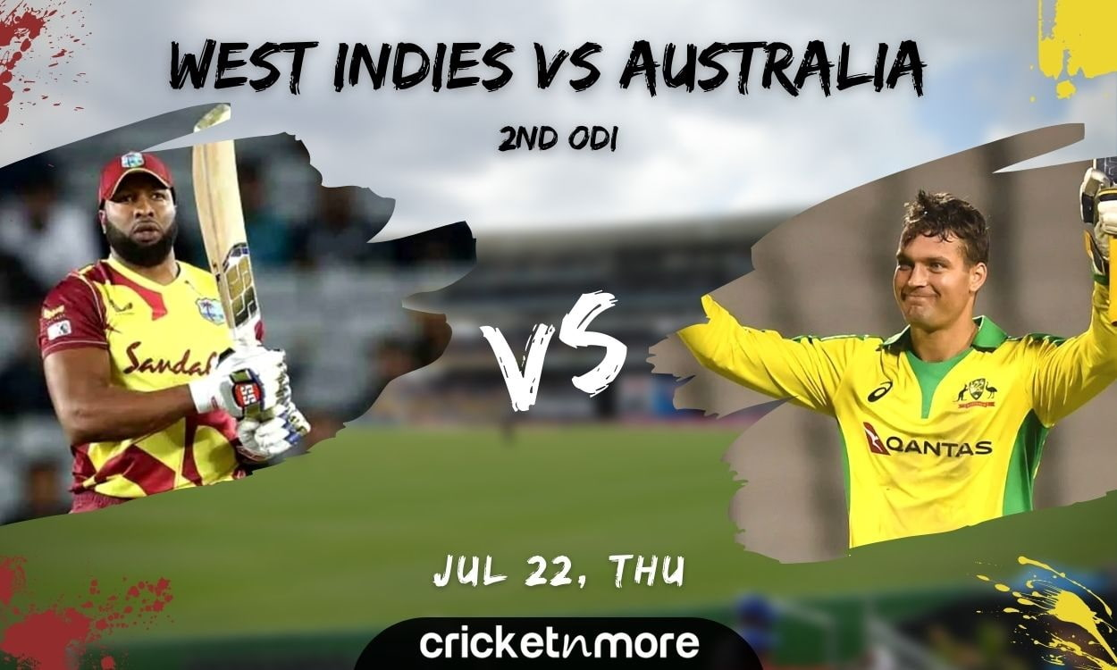 Cricket Image for West Indies vs Australia, 2nd ODI – Match Prediction, Fantasy XI Tips & Probable X