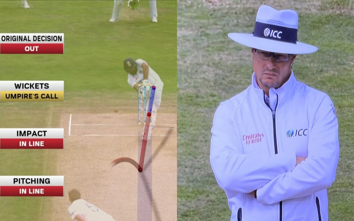 Cricket Image for VIDEO : 'स्टंप्स पर नहीं लग रही थी 80% गेंद', अंपायर्स कॉल की बलि चढ़ गए रोहित शर्
