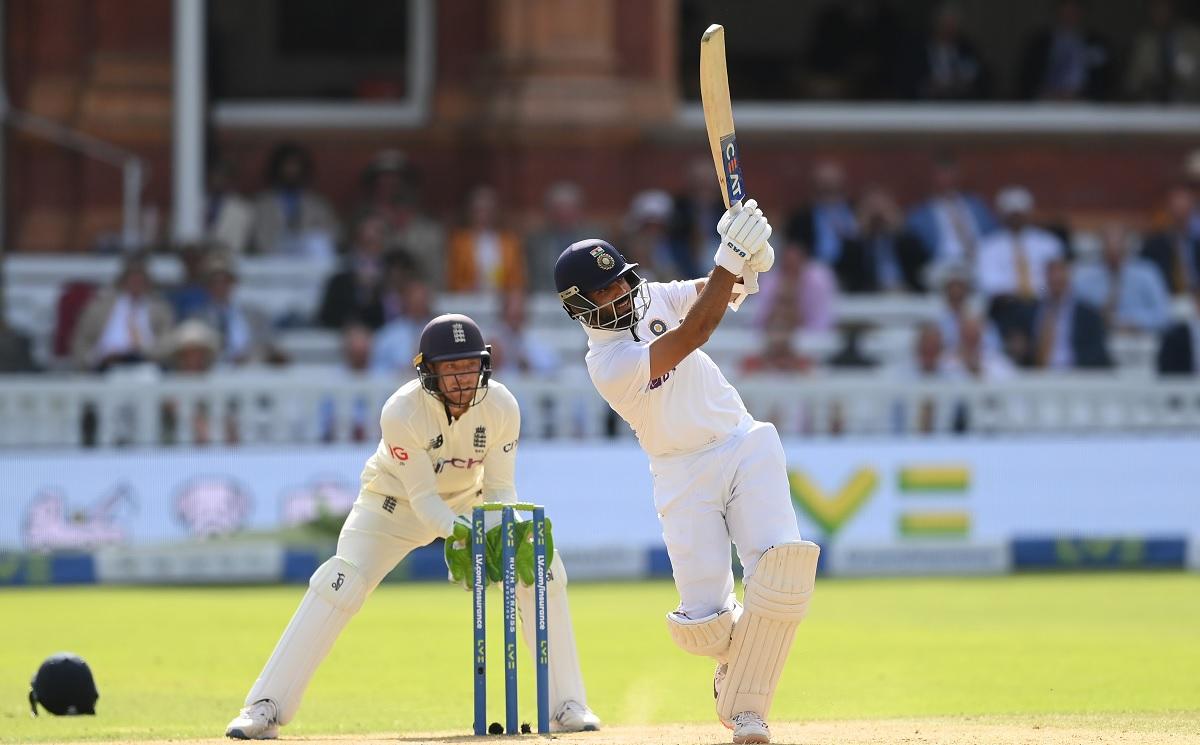 Cricket Image for Lord's Test, Day 4: रहाणे-पुजारा की साझेदारी के बाद लड़खड़ाई भारतीय पारी,हासिल की
