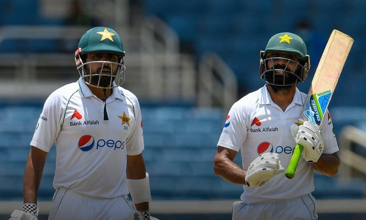 Cricket Image for WI vs PAK: बाबर आजम-फवाद आलम के दम पर पाकिस्तान की शानदार वापसी, पहले दिन बनाए 4 व