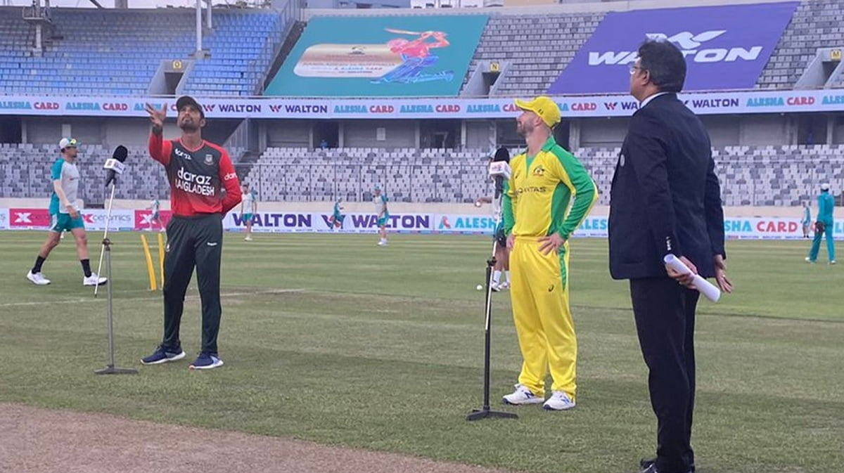 Ban vs AUS - Australia win the toss and elect to bowl first