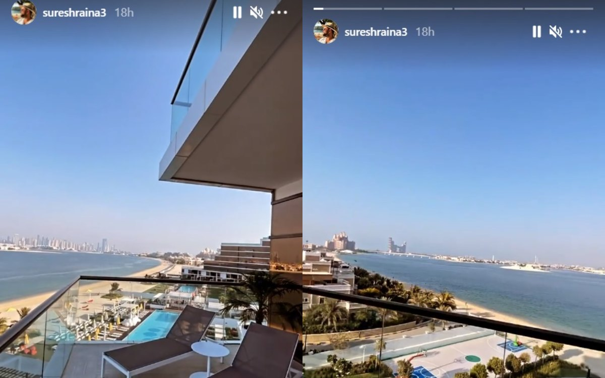 Cricket Image for Csk Player Suresh Raina Shares View From Hotel Balcony