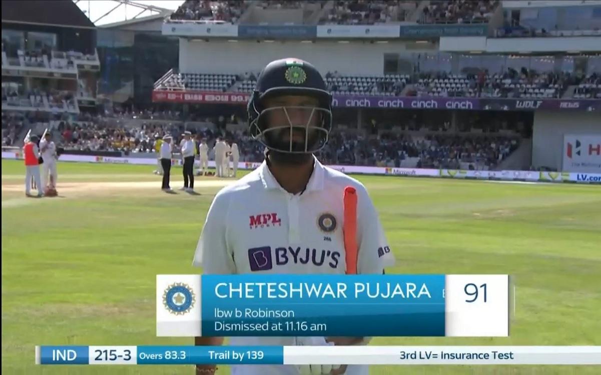Cricket Image for चेतेश्वर पुजारा ने 91 रन बनाकर बनाया अनचाहा रिकॉर्ड, ऐसे आउट होने वाले पहले भारतीय
