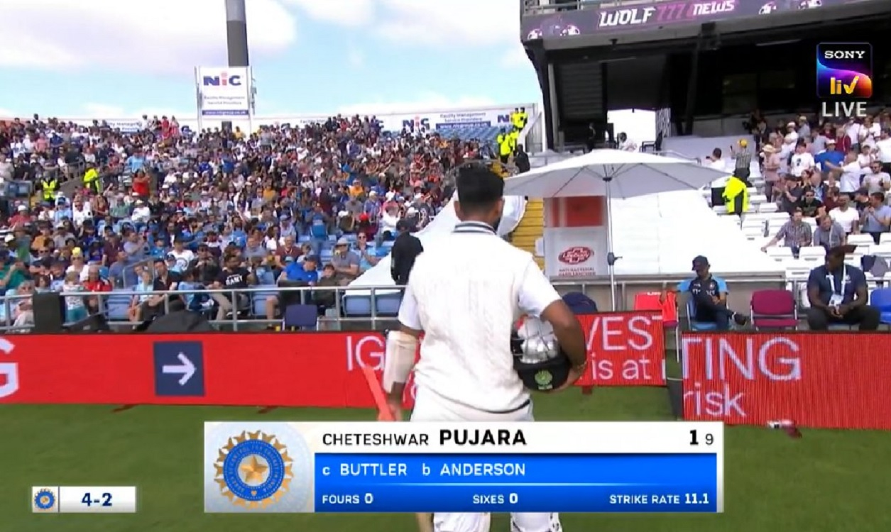 James Anderson out Cheteshwar Pujara for the 10th time in Tests