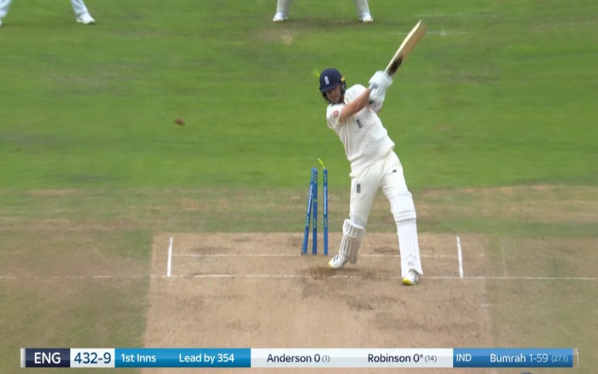 Cricket Image for Eng Vs Ind Jasprit Bumrah Finishes The England Innings In Style Watch Video