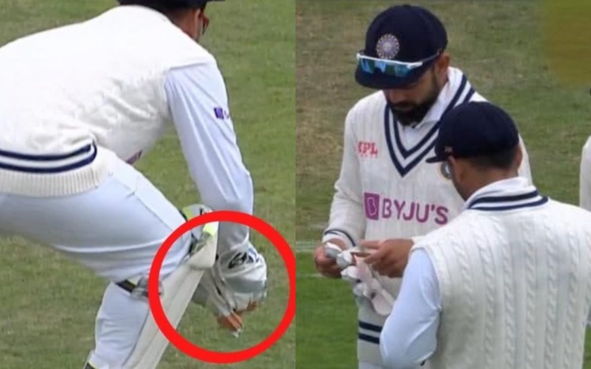 Cricket Image for Eng Vs Ind Umpires Ask Rishabh Pant To Remove Tape On His Gloves