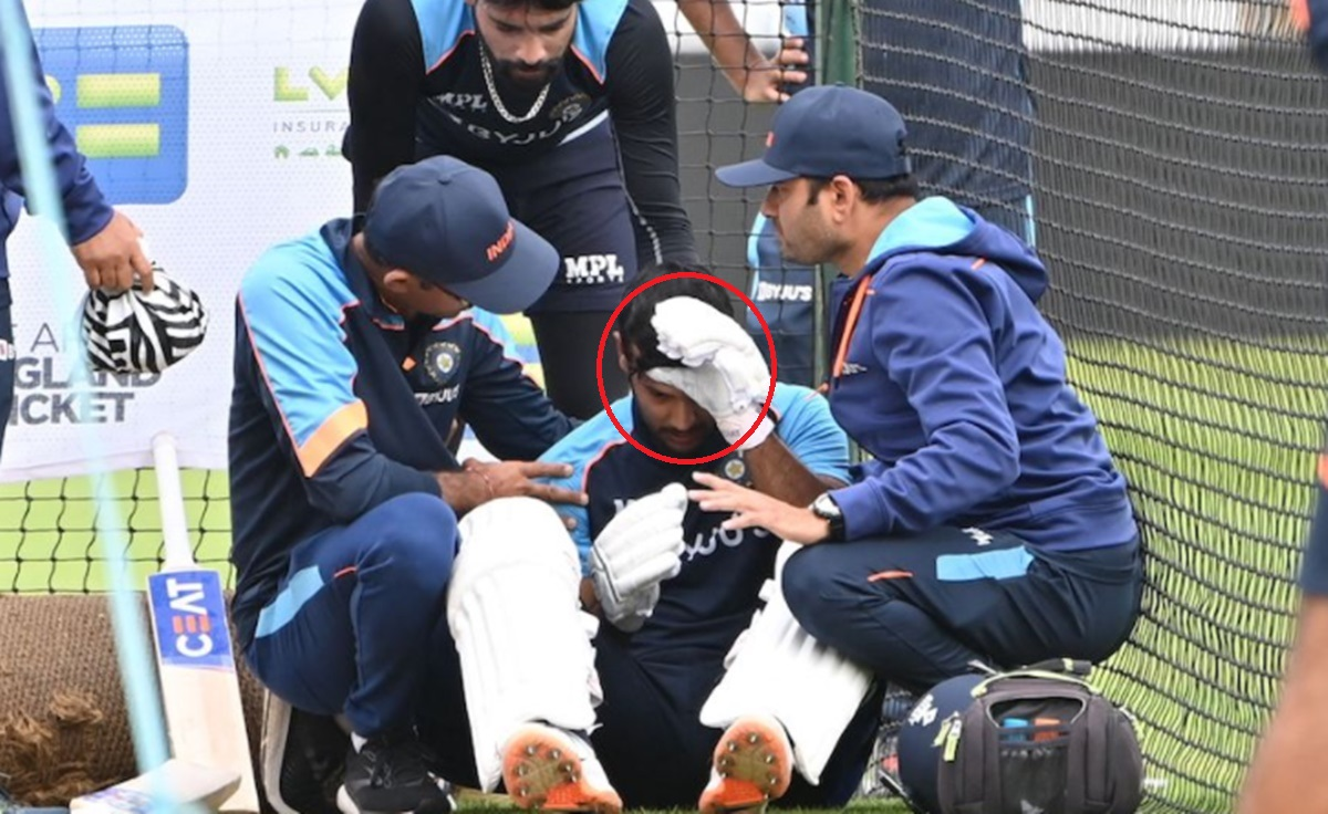 Cricket Image for England Vs India Mayank Agarwal Goes Off The Ground After Being Hit By Mohammed
