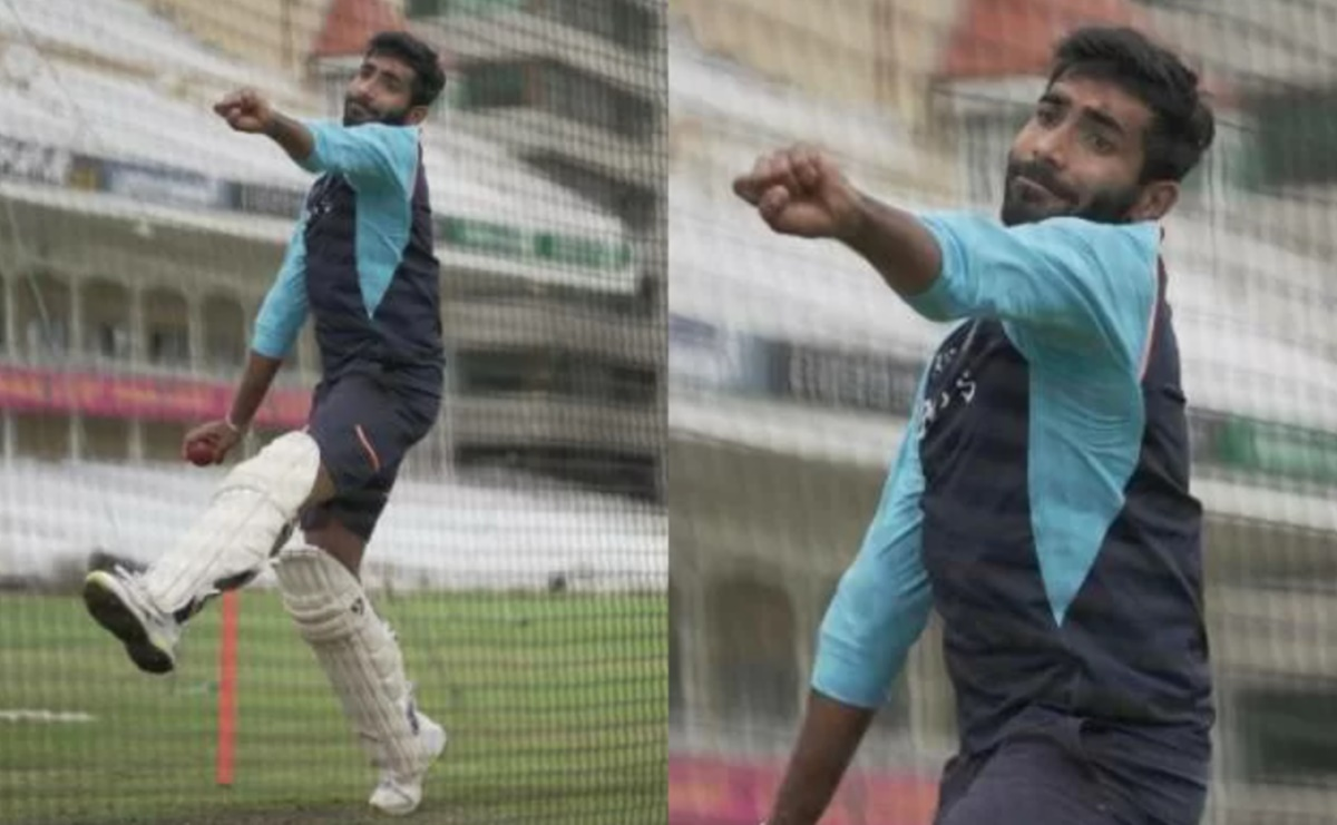 Cricket Image for England Vs India Test Series Jasprit Bumrah Bowls With Pads
