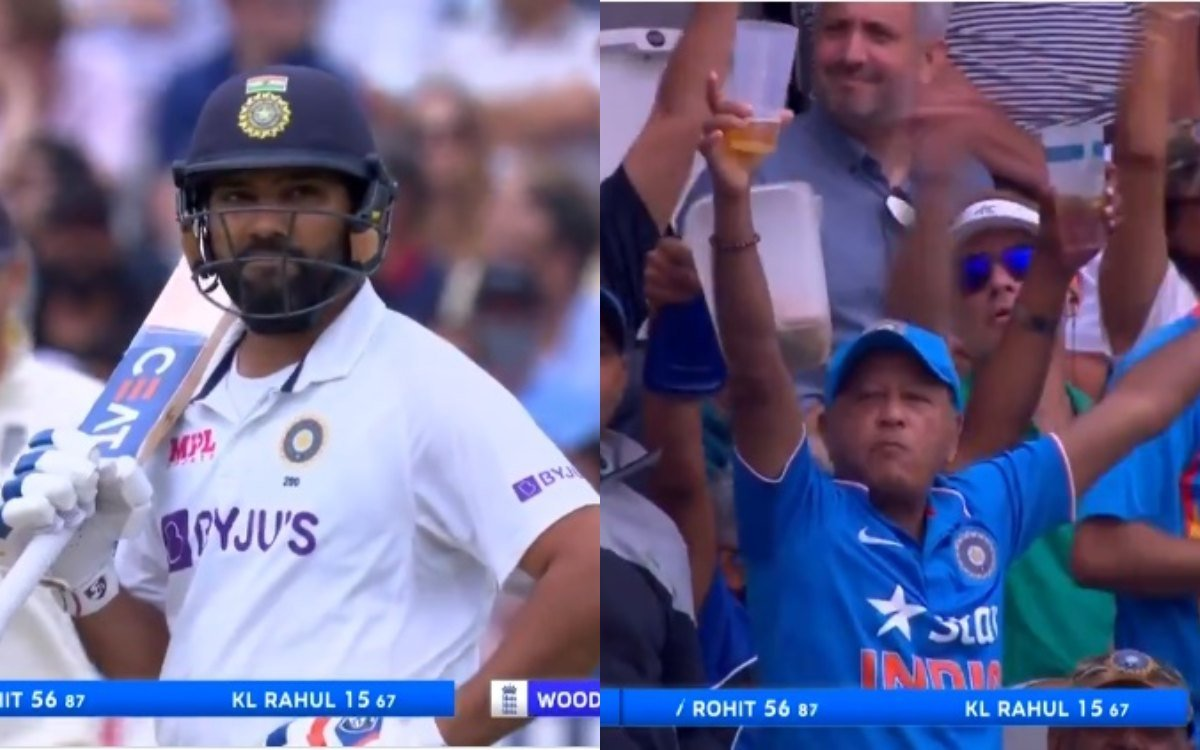 Cricket Image for Ind Vs Eng 2nd Test Rohit Sharma Six Against Mark Wood Bowling Watch Video