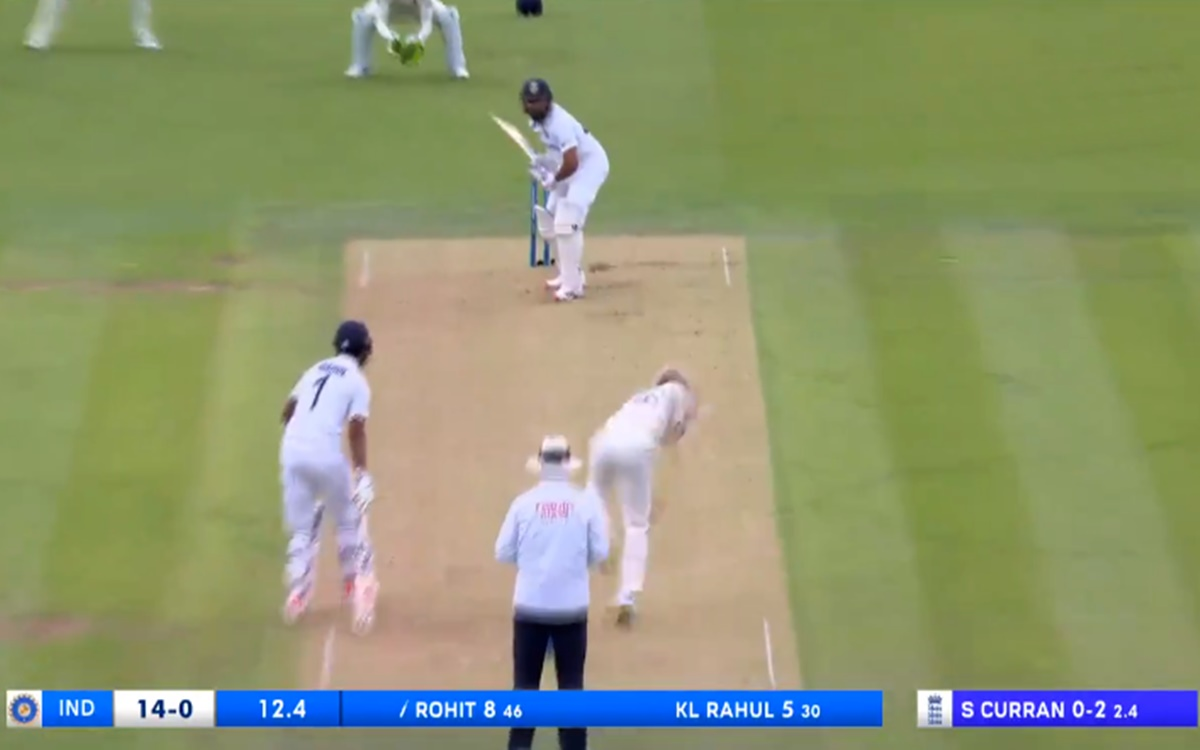 Cricket Image for Ind Vs Eng 2nd Test Rohit Sharma Slams Four Boundaries In Sam Curran Over
