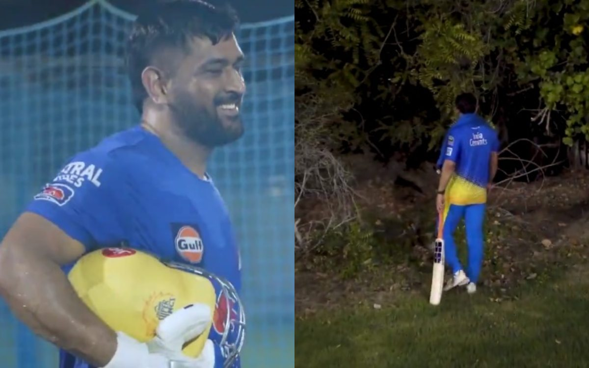 Cricket Image for Ipl 2021 Ball Lost By Ms Dhoni Six Watch Video