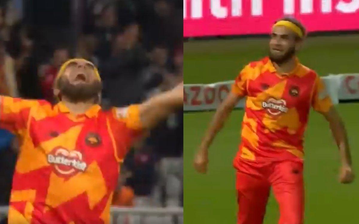 Cricket Image for VIDEO : ताहिर ने मचाया 'The Hundred' में तहलका, टूर्नामेंट की पहली हैट्रिक लेकर मन