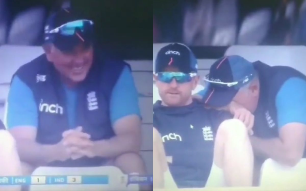 Cricket Image for India Vs England England Coach Chris Silverwood Different Emotion During Match