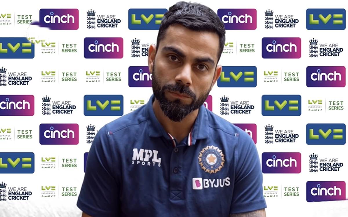 Cricket Image for India Vs England India Cricket Captain Virat Kohli Swag In Virtual Press Conferenc