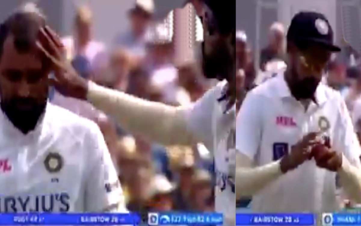 Cricket Image for India Vs England Mohammed Siraj Applies Shami Sweat On Red Ball Watch Video