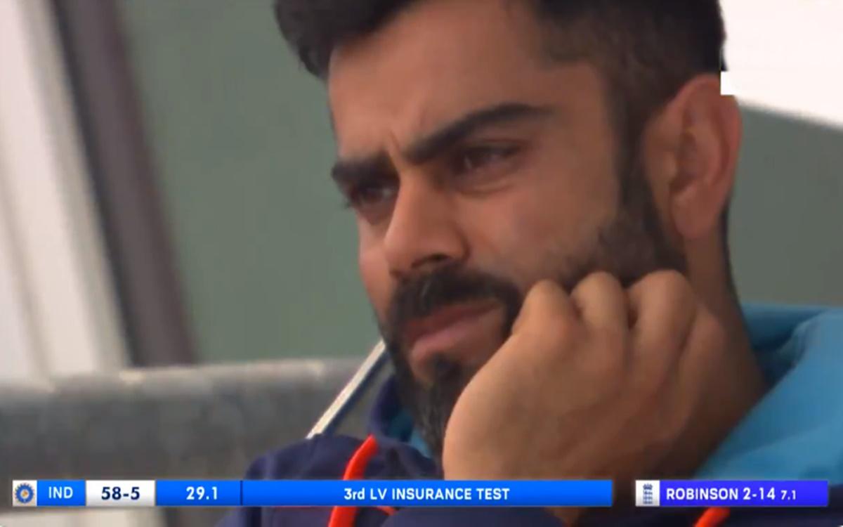 Cricket Image for India Vs England Virat Kohli Reaction After Rishabh Pant Dismissal Watch Video