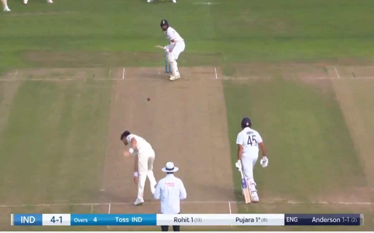 Cricket Image for James Anderson Dismiss Cheteshwar Pujara Watch Video