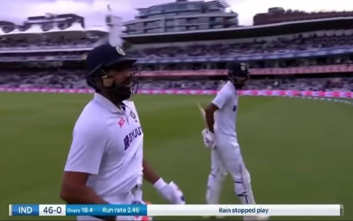 Cricket Image for England Vs India Kl Rahul Stops To Let Rohit Sharma Go First Watch Video