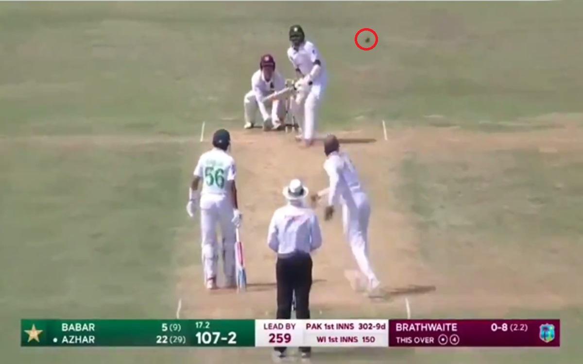 Cricket Image for Kraigg Brathwaite Dismiss Azhar Ali With Moon Ball