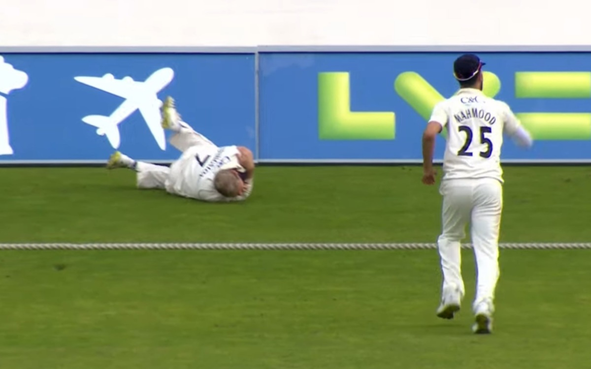 Cricket Image for Liam Livingstone Injured His Shoulder Watch Video