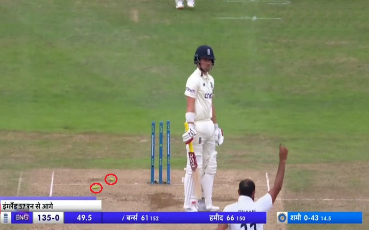 Cricket Image for Mohammad Shami Clean Bowled Rory Joseph Burns