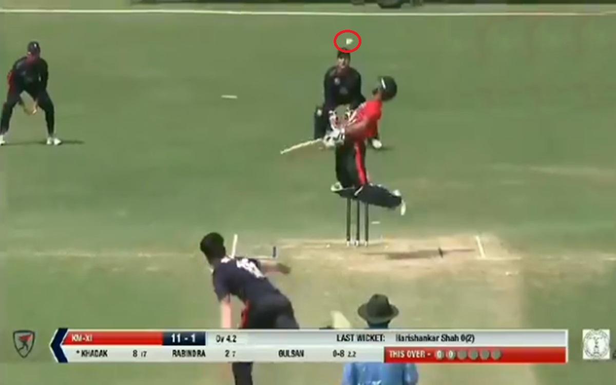 Cricket Image for Nepal Bowler Gulshan Jha Perfume Ball Watch Video
