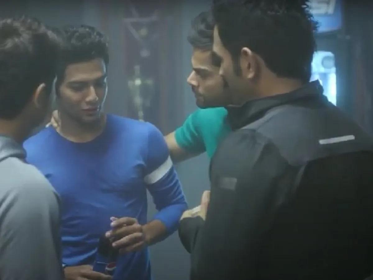 Pepsi Advertisement of Dhoni, Raina and Kohli with Unmukt Chand