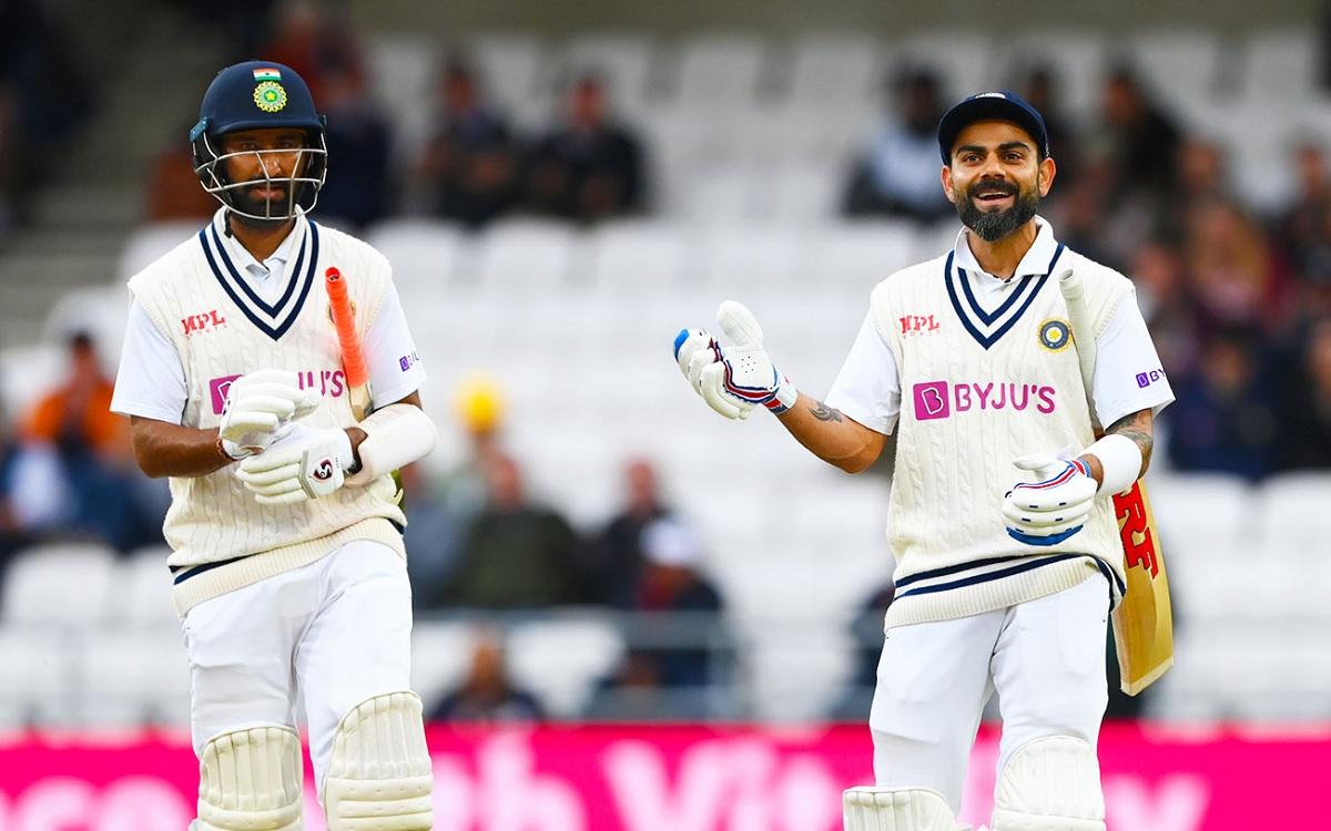 Cricket Image for ENG vs IND,3rd Test: पुजारा-कोहली की धमाकेदार वापसी, दूसरी पारी में भारत का स्कोर