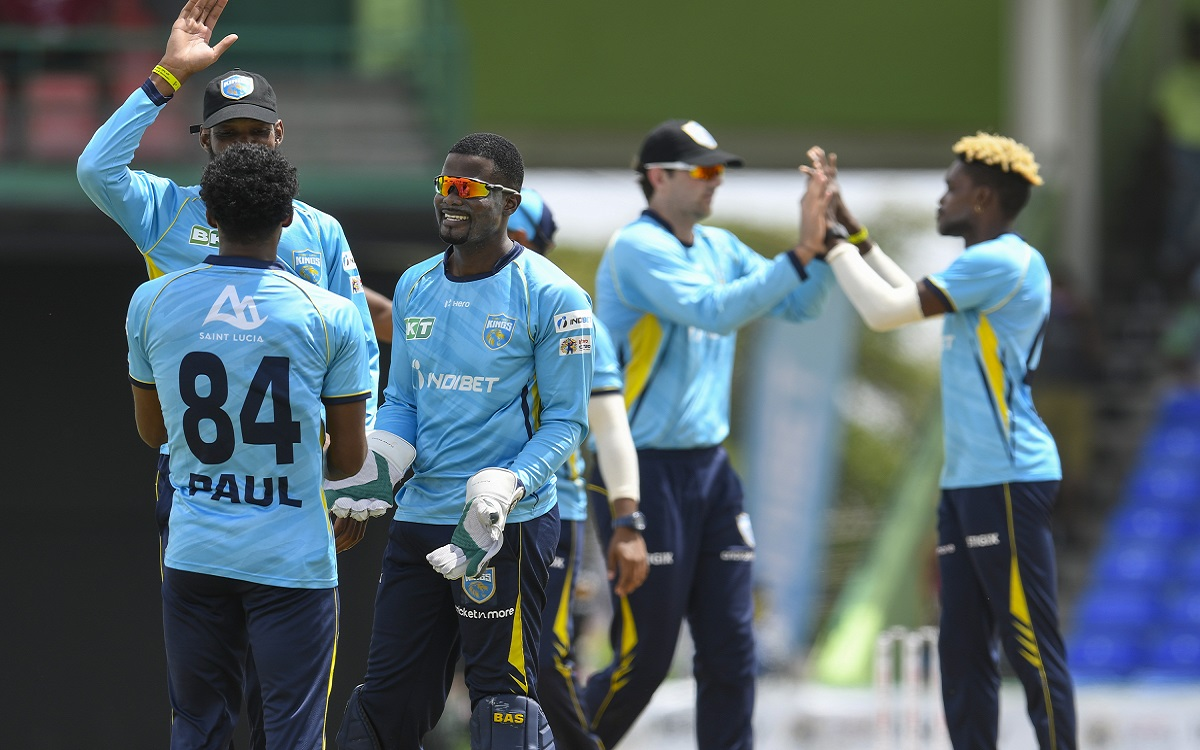 Saint Lucia Kings Vs Trinbago Knight Riders In CPL Images