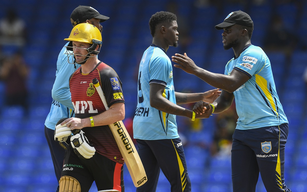 Saint Lucia Kings Vs Trinbago Knight Riders Images