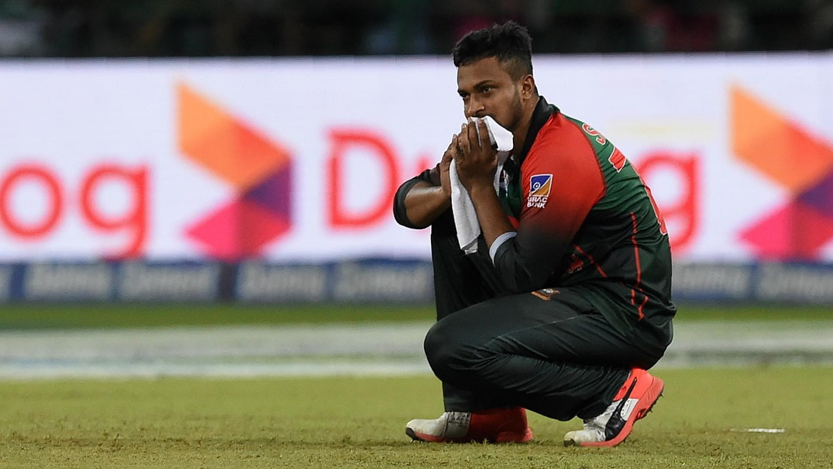 Shakib Al Hasan becomes the first player to concede 30 or more runs in a T20I over twice