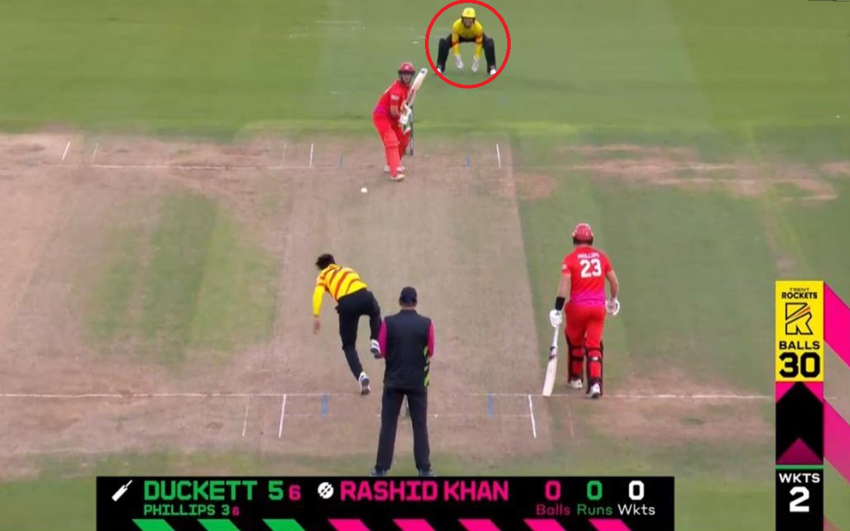 Cricket Image for The Hundred When Rashid Khan Was Bowling Wicket Keeper Was Standing Back