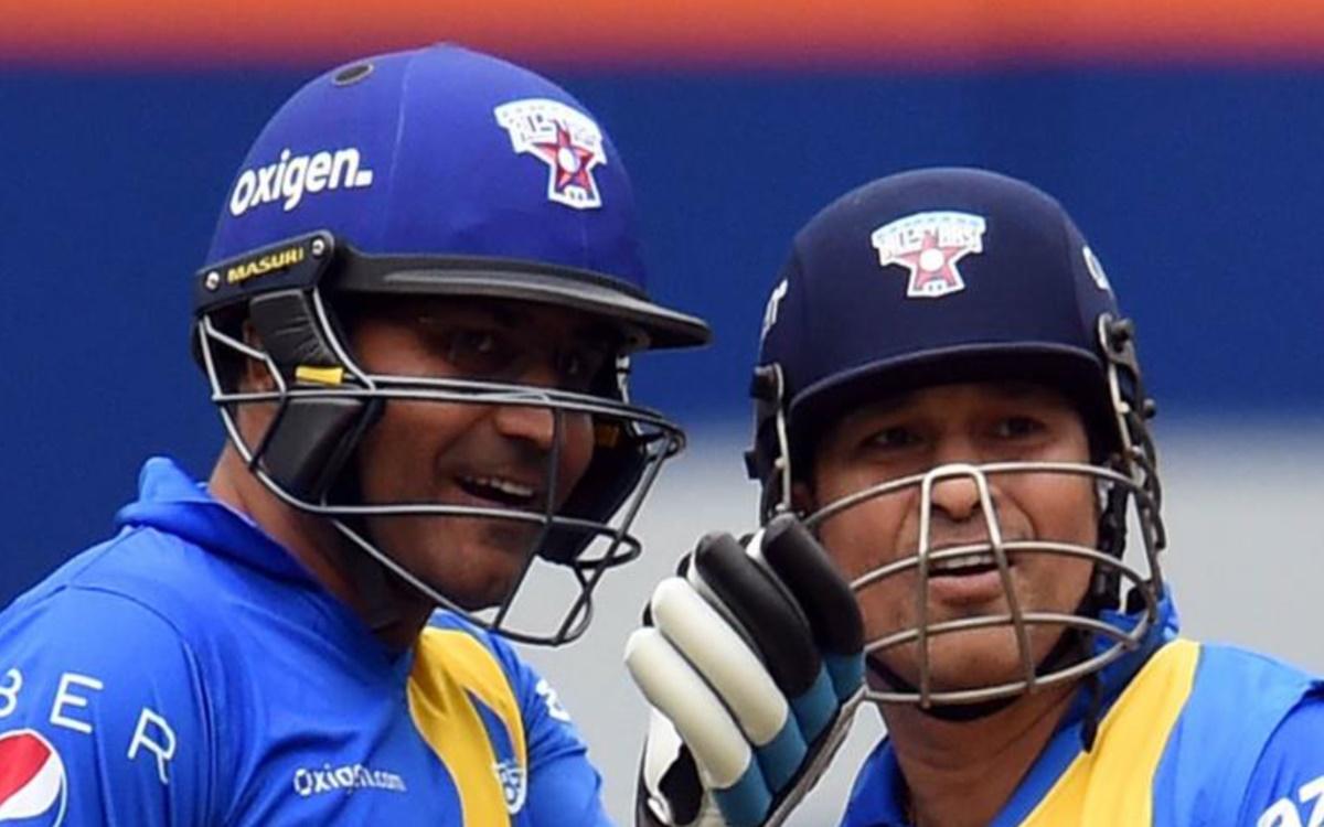 Cricket Image for The Gathering Of Mushaira Between Sachin Tendulkar And Virender Sehwag