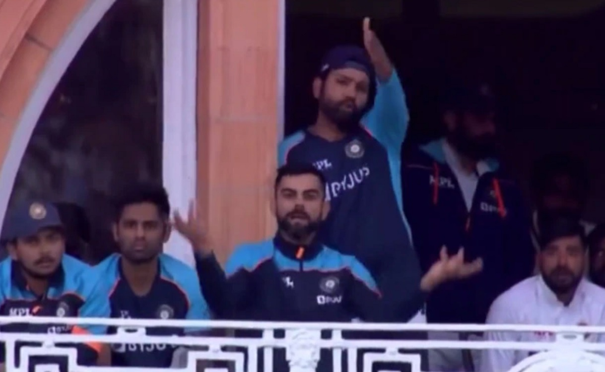 Virat Kohli's gesture over fading light on Day 4 at Lord's goes viral