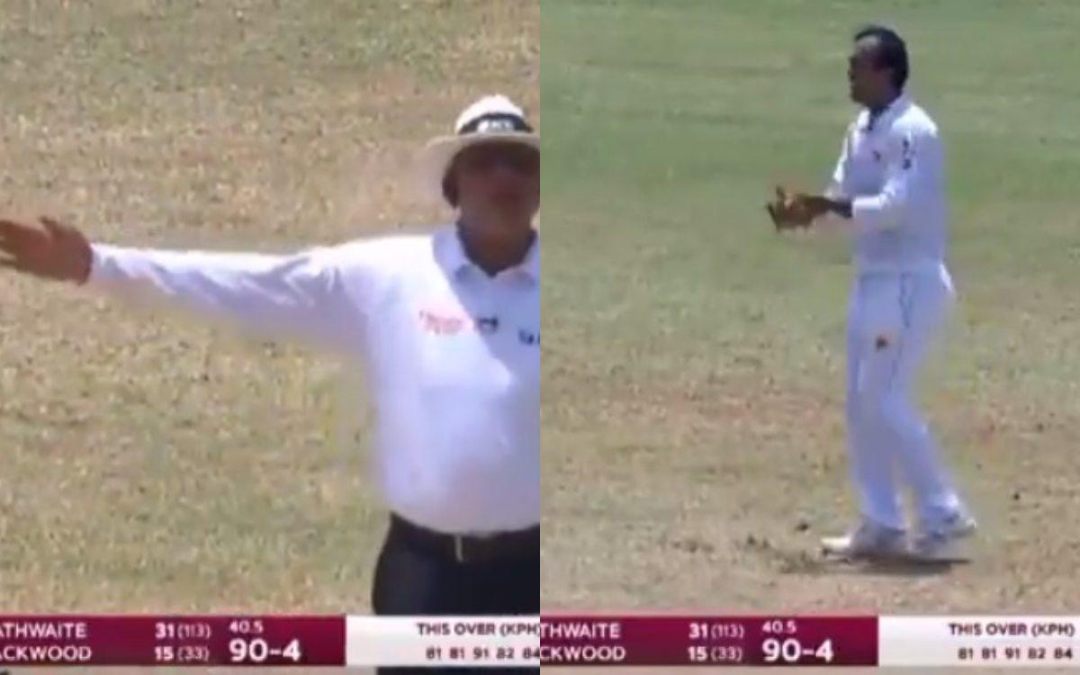 Cricket Image for Wi Vs Pak Babar Azam Reaction After Nauman Ali No Ball Watch Video