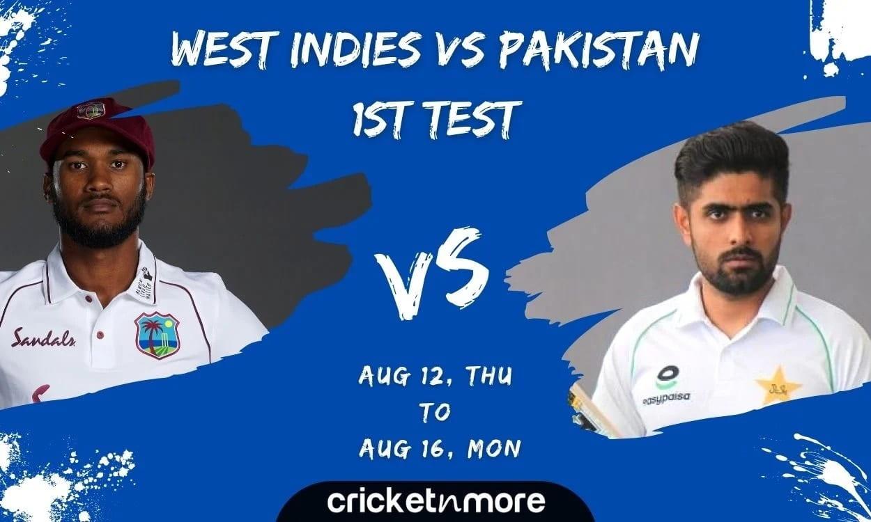 West Indies vs Pakistan, 1st Test Cricket Match Prediction, Fantasy XI Tips & Probable XI