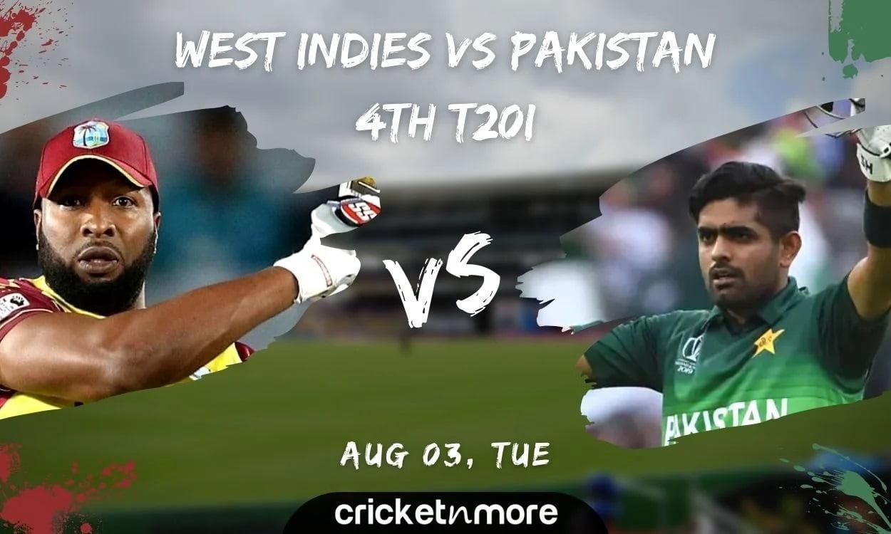 West Indies vs Pakistan, 4th T20I Cricket Match Prediction, Fantasy XI Tips & Probable XI