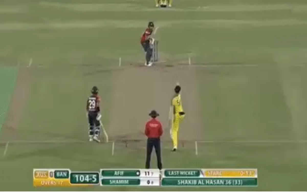 Cricket Image for Ban Vs Aus Afif Hossain Brilliant Shot Off Mitchell Starc Bowling Watch Video