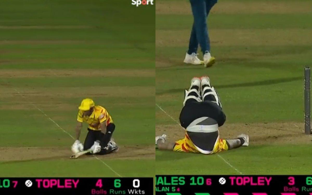 Cricket Image for VIDEO : 'दर्द क्या होता है कोई हेल्स से पूछो', बीच मैदान तड़पते रहे हेल्स लेकिन वि