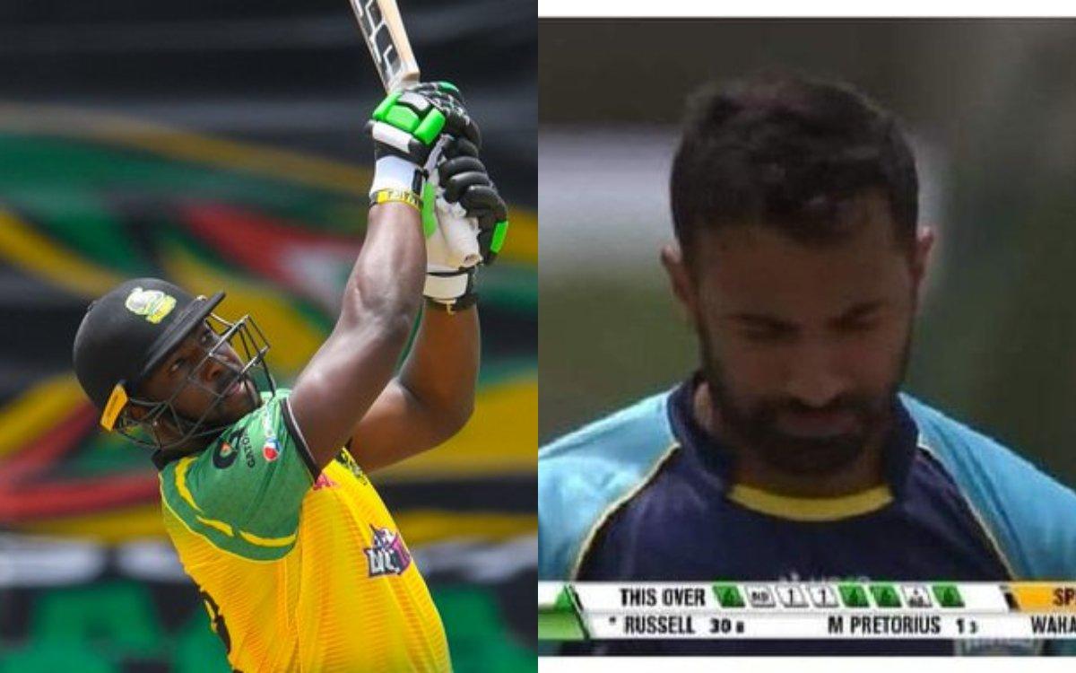 Cricket Image for VIDEO : '4 छक्कों समेत 1 ओवर में लूटे 32 रन', आंद्रे रसल ने वहाब रियाज़ की बनाई दु