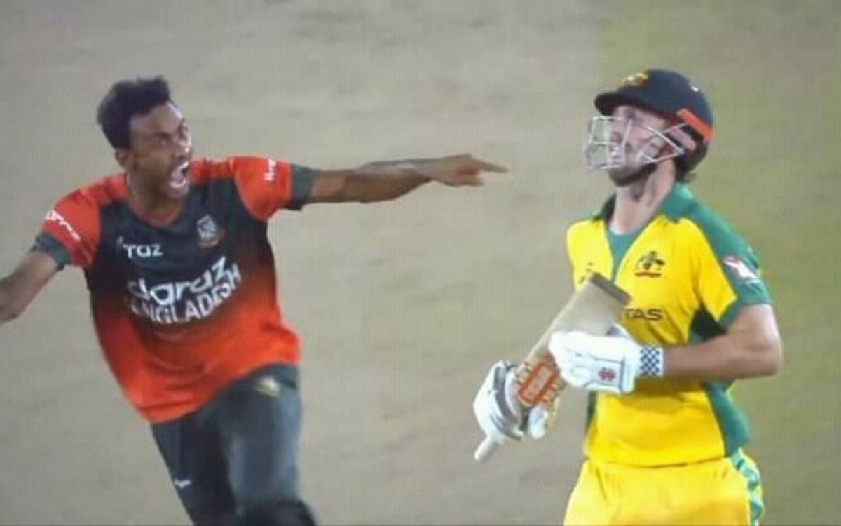 Cricket Image for VIDEO : बांग्लादेशी गेंदबाज़ ने की हद पार, मिचेल मार्श को आउट करने के बाद की ये हर