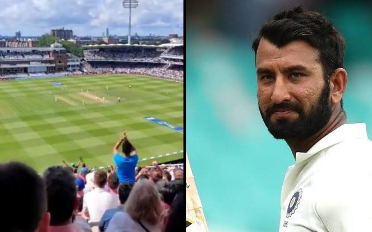 Cricket Image for VIDEO: पुजारा ने 35वीं गेंद पर बनाया पहला रन, तालियों से गूंज उठा पूरा स्टेडियम