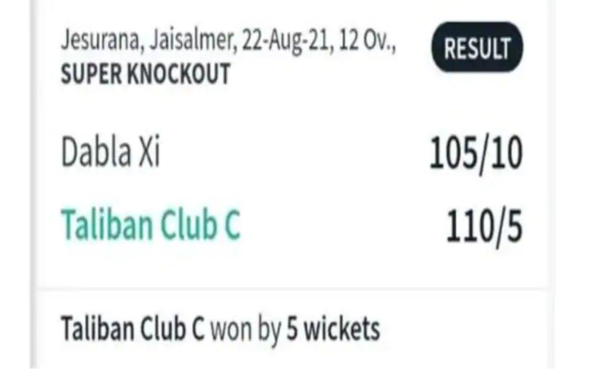 Cricket Image for राजस्थान में दिखी 'तालिबान' क्रिकेट टीम, सोशल मीडिया पर फैंस ने काटा बवाल