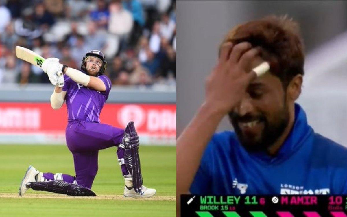 Cricket Image for VIDEO : डेविड विली के तूफान में उड़े मोहम्मद आमिर, आखिरी ओवर में  हुई छक्कों की बर