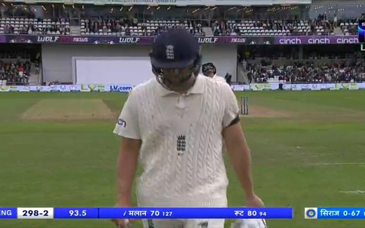 Cricket Image for VIDEO : 3 साल बाद वापसी और किस्मत ने दिया धोखा, 70 रन बनाने के बाद भी मलान नहीं हो