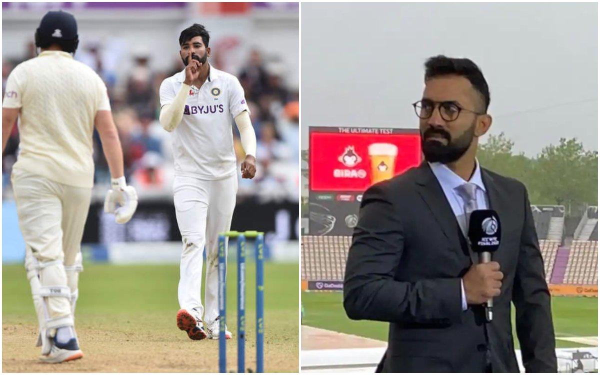 Cricket Image for कार्तिक ने लगाई सिराज को फटकार, कहा- 'Shut up' सेलिब्रेशन की कोई ज़रूरत नहीं थी