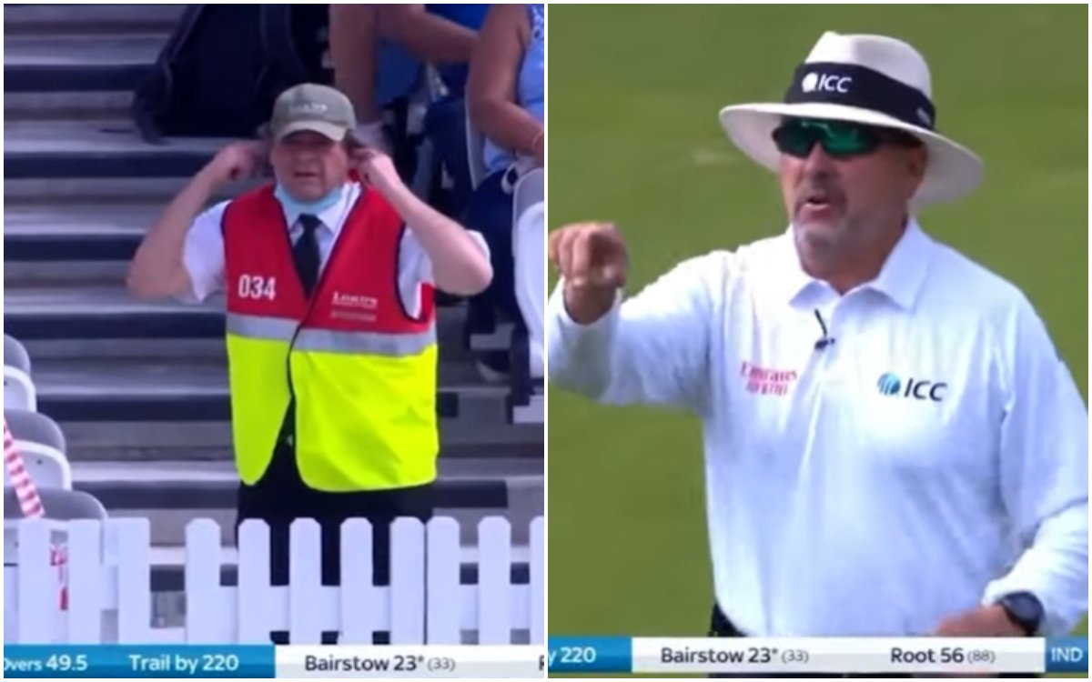 Cricket Image for VIDEO : लॉर्ड्स में दिखा हाई वोल्टेज़ ड्रामा, एक शख्स ने उड़ाए अंपायर, शमी और बेयर