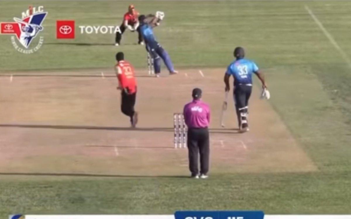 Cricket Image for VIDEO: अमेरिका में भी गरज उठा उन्मुक्त चंद का बल्ला, छक्के के साथ पूरी की हाफ सेंच