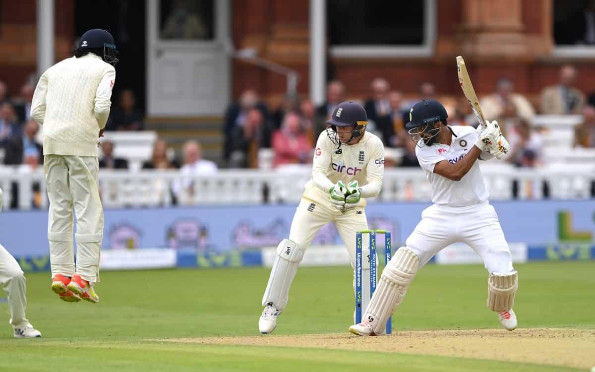 Cricket Image for ENG vs IND: टी-ब्रेक तक भारत ने दो विकेट खोकर बनाए 157 रन, रोहित शर्मा का शतक रहा